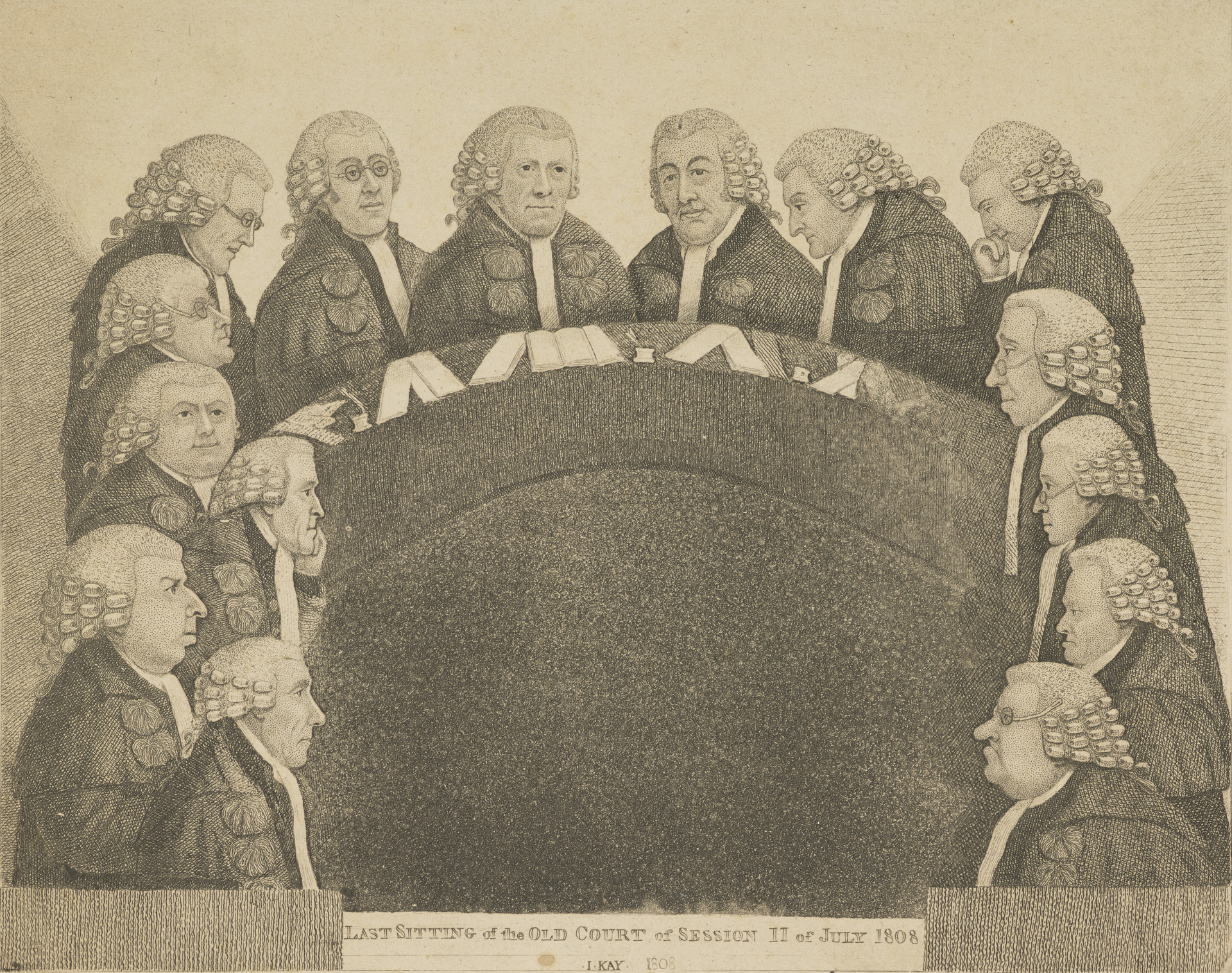 The Last sitting of the Old Court of Session