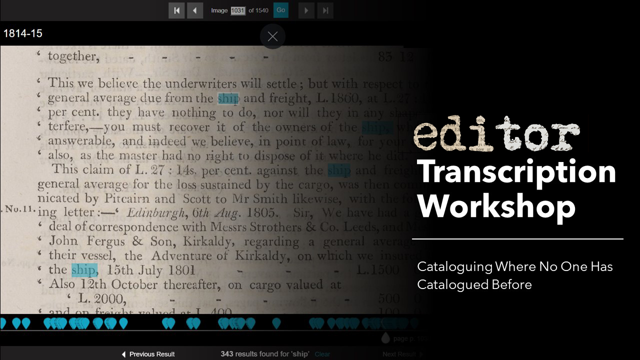 Editor Transcription Workshop Poster