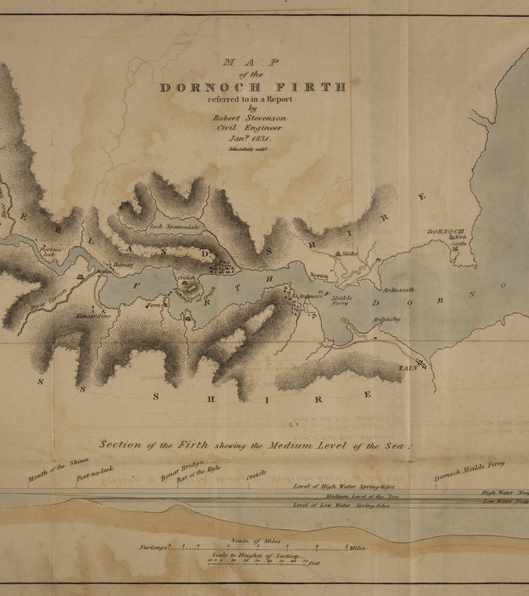 Map of Dornoch Firth, Scotland