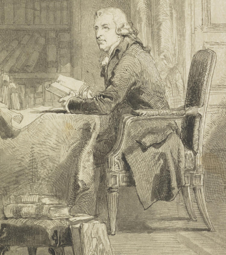 Sir John Gilbert Gentleman Seated in a Library