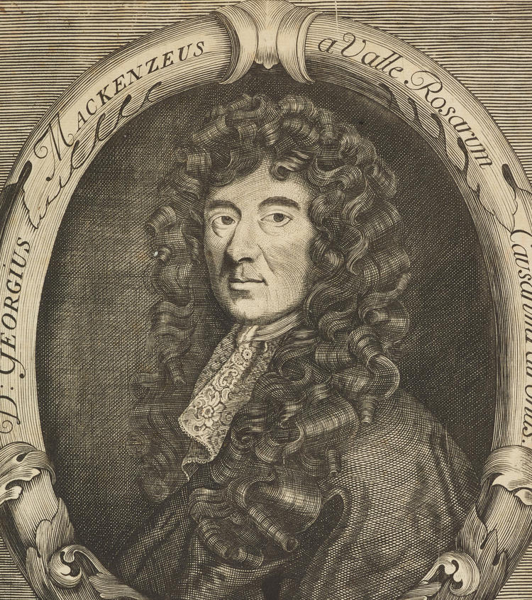 Sir George Mackenzie, 1636 - 1691. Founder of the Advocates' Library